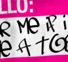 toss pink Sticker
