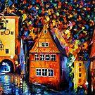 Germany, Medieval Rothenburg — Buy Now Link - www.etsy.com/listing/219044573 by Leonid  Afremov