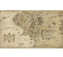 Middle-Earth Map Print by ChromePlatedTV
