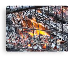 Blazing Hot .. fire in a trolley Canvas Print