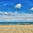 Lake Huron - Oscoda Beach, Michigan by Tom Causley