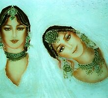 an old love letter -  Shree's  Fantastic Faces by Ushna Sardar