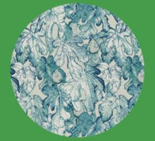 Fig Leaf Fancy - a pattern in teal and grey Kids Clothes