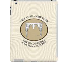 NYC building details 3 - SOHO Art Deco iPad Case/Skin