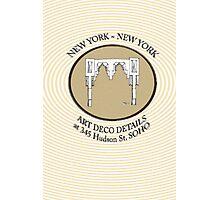 NYC building details 3 - SOHO Art Deco Photographic Print