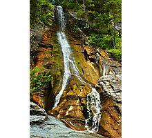 The Apa Spanzurata waterfall in the Latoritei gorge Photographic Print