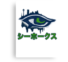 Seahawks Eye in Japanese - シーホークス (SSH-000008) Canvas Print