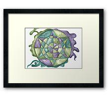 Earth Healing Mandala Framed Print