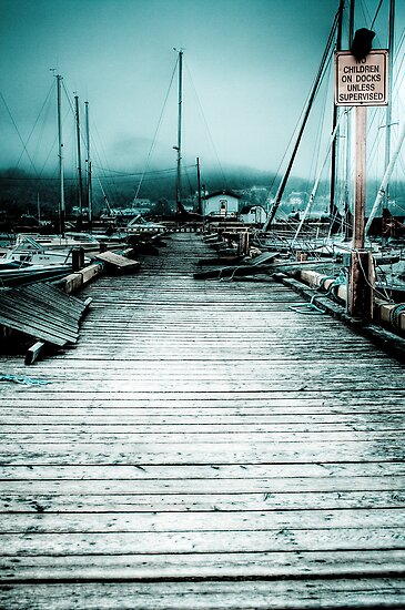 Sitting On The Dock Of The Bay by Kevin  Kroeker
