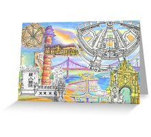 Lisbon sketches Greeting Card