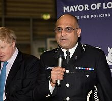 Commander Mak Chishty at Millwall Football Club by Keith Larby