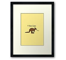 Kangaroos Are T-Rex Deer Framed Print