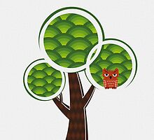 The Round Tree Owl by bicone