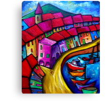 COLOURFUL PORT OF CORRICELLA - ITALY. Canvas Print