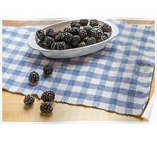 Blackberries in Window Light Poster