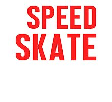 Burn Off The Crazy Speed Skate T-shirt Photographic Print