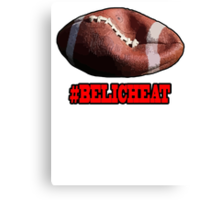 DEFLATEGATE - Official Game Ball of the New England Patriots Canvas Print