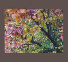 Autumn Colours Manturian Pear Tree Branches by bronspst