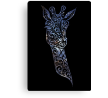Blue Space Giraffe Canvas Print