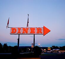 Diner along I-84 by Daniel Sorine