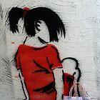 bag adventure: stencil girl by Esther Frieda