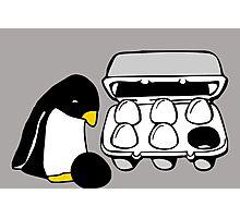 LINUX TUX PENGUIN EGG BOX BLACK EGG Photographic Print