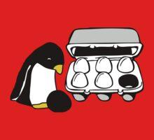 LINUX TUX PENGUIN EGG BOX BLACK EGG Kids Clothes