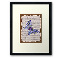 Dancing Butterfly_1_brown Framed Print