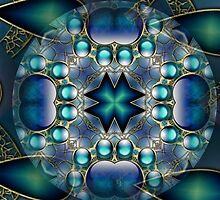 Blue Mandala 1 by Thanya