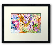 Mucha Ponies Framed Print