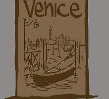 Venice lagoon vintage sketch by Logan81