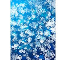Snowing background Photographic Print