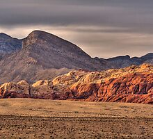 Red Rock Canyon Sunset by LarryGambon