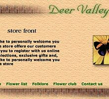 Deer Valley Florist web site concept by Todd Weidman