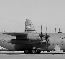 C-130's in Black & White by Robert Phelps