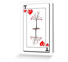 The Tree of Hearts playing card Greeting Card