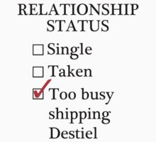 Relationship Status - Too Busy Shipping Destiel by A-Starry-Night