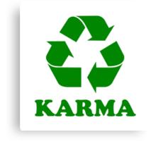 Karma Recycle Canvas Print