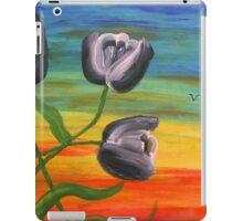 Toon Tulips at sunset iPad Case/Skin