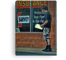 Are you covered? Canvas Print