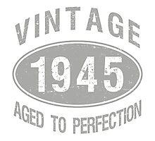 Vintage 1945 Birthday Photographic Print