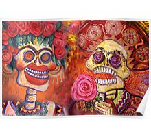Day of the Dead Calavera Romance Poster