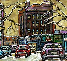 ON THE ROAD AGAIN MONTREAL CARS IN THE WINTER by Carole  Spandau