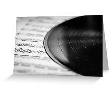 Long playing record Greeting Card