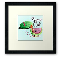Piece Out Framed Print