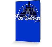 Malt Whiskey not Walt Disney Greeting Card