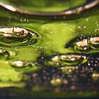 green serene bubbles under water by nattyb