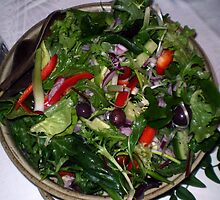 Yummy healthy salad... by Tricia Holmes