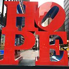 HOPE Sculpture, Seventh Avenue, New York City by lenspiro