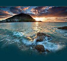Mauao Sunset Drift by Ken Wright